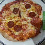 Child's pizza (with a crayon for context!)