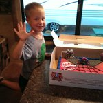 my son birthday at campground