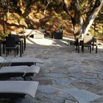 Outdoor seating area at the Olea Hotel