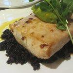 Dorado with Black Rice and Guacamole