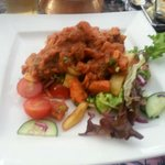 Chicken pathia and side salad