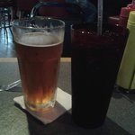 Fat tire beer and diet coke...