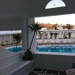 Petinos Beach Family Suite patio view