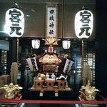 ザ・キャピトルホテル東急に飾ってあったお神輿です
