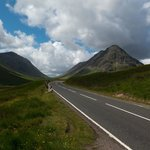 The A82 heading into Glencoe