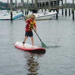 Paddling with my 9 year old son Thomas