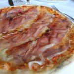Pizza with Asiago Cheese & Speck