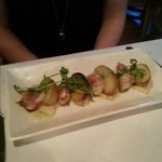 Scallops of the day (pancetta and sautéed potatoes)