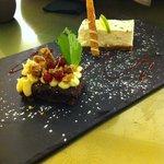 Tarte de lima e bolo de dois chocolates e wasabi