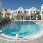 small pool area at Aegean Plaza hotel