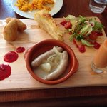 Tapas board - very enjoyable! I liked the Spanish omelette especially