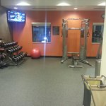 Free weights, machine and weighted balls.