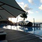 Coucher du soleil depuis la piscine