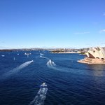 View of Sydney Harbour from Harbour Bridge