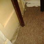 edging of carpet/doorway