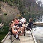 private dock campsite #109 on the lake
