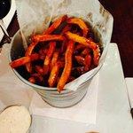 Awesome bucket of Sweet Potato fries