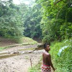 Our young guide taking us to the water fall & searching for wildlife, but we didn't encounter an