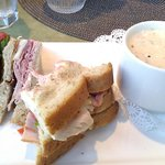 Club Sandwich on Wheatberry bread with Lobster Bisque