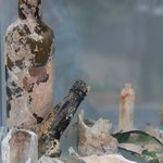 bottles coughed up by hot springs