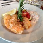 Salt crusted shrimp - yes, you can eat the shell!