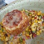 No filler crab cake with corn salad - gluten free!