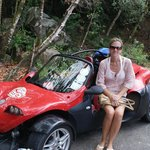 We rented a dune buggy for a day to explore the island.