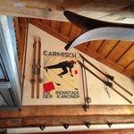 In the Main Dining Room -- Classic European Ski Motif