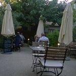 the terrace around 9pm
