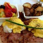 Great Eggs Benedict at breakfast