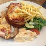 Chicken, ham and cheddar melt