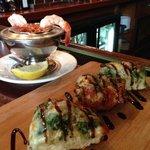 Bruschetta & shrimp cocktail
