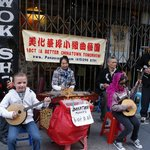 My son in China town joining the band!