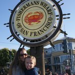 Fisherman's Wharf, about 10 min from hotel on cable car.