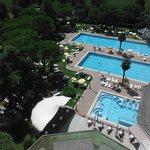 le tre piscine dal 8° piano