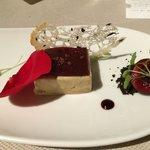 Gepresste Foie Gras mit schwarzen Oliven Kirschen und Rosen   Extra