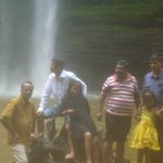 At Boti fall with my friends, Eastern Region, Ghana