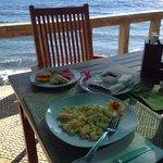 Breakfast on the terrace by the sea