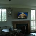 HD TV and Chalet Style Light