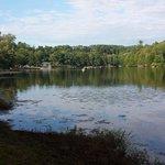 Lake is pretty.