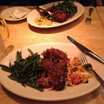 Meatloaf with Green Beans and Corn Succotash