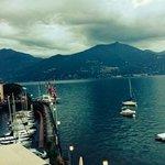 View of Lake Como from our room at Hotel Bella Vista in Menaggio.