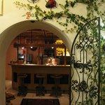 Entrance to bar area