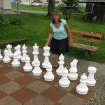 Outdoor chess.