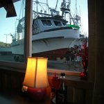 boats on the dock -- view from your table