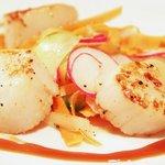 Pan fried scallops