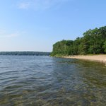 Swimming beach at Long Point Campground