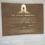 Plaque on the Anzac memorial
