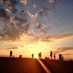 Sunset at Jockey Ridge State Park. July 25, 2014