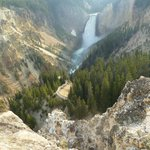 Grand Canyon of the Yellowstone a short walk from the cabin